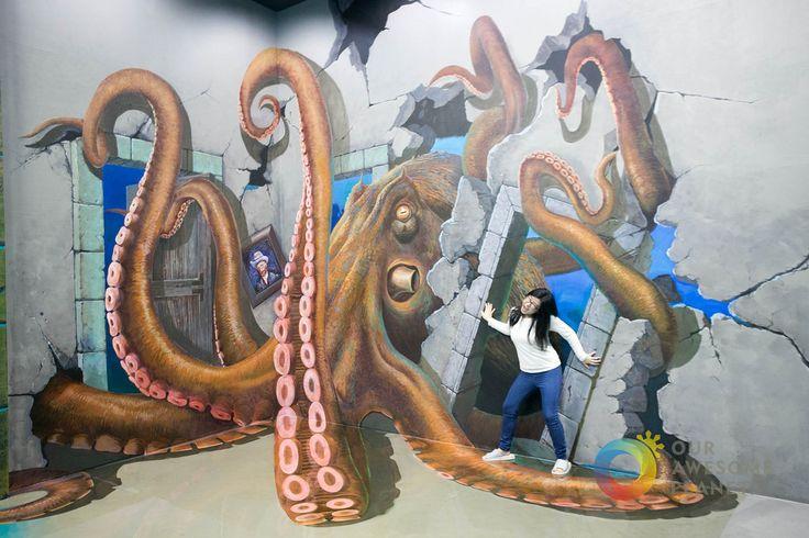 "Art in Island,(3D Art Museum,Cubao, Quezon City, Philippines), ""Giant Octopus"" by Anton Diaz"