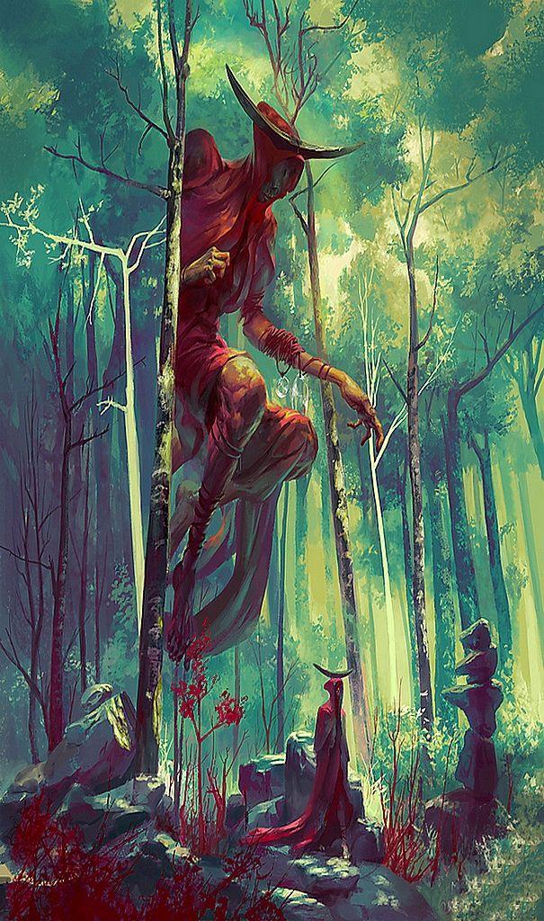 "translucentmind: ""Bezaliel, Angel of Shadow // Peter Mohrbacher"""