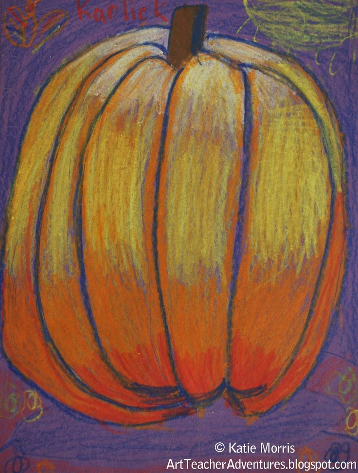 "Pumpkins showing ""Value"" Adventures of an Art Teacher: 2nd grade"