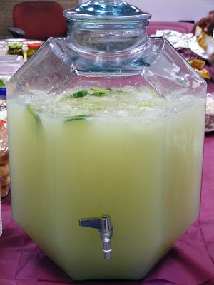 margarita punch! Bring on the liquid calories!