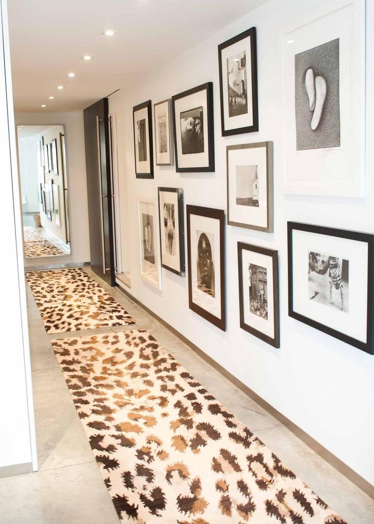 stunning hallway with framed art  #framedart #hallway #gallerywall