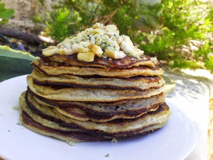 Chunky on Chia: {Vegan} Banana Protein Pancakes