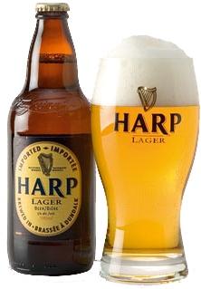 Bebiendo #Harp Lager #Beer en #Irlanda | Más lugares en decervezasporelmundo.com