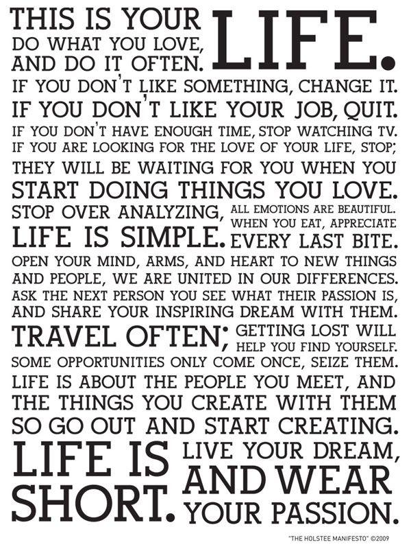 encouragement to do something epic. live.