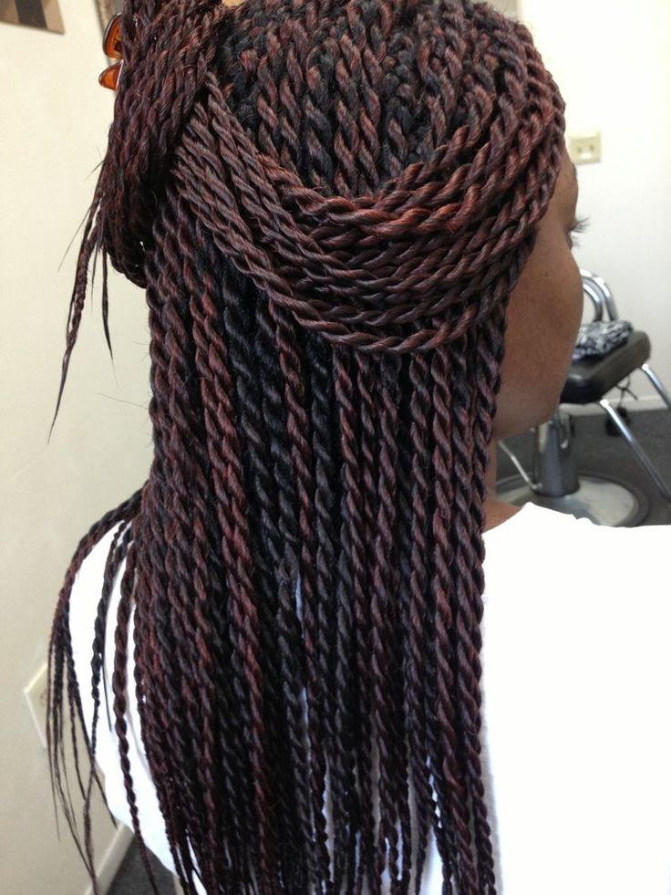 ... Burgundy Box Braids on Pinterest Box Braids, Braids and Crochet