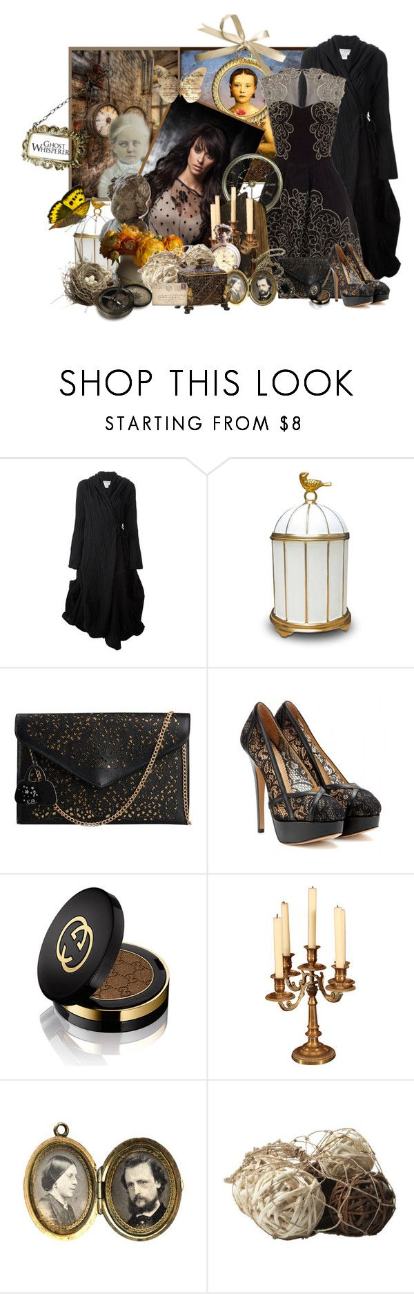 """Ghost Whisperer"" by frane-x ❤ liked on Polyvore featuring Ivan Grundahl, L'Objet, Charlotte Olympia and Gucci"