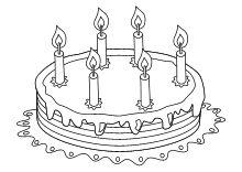 Geburtstag Kuchen 6 Kerzen Malvorlagen für kinder