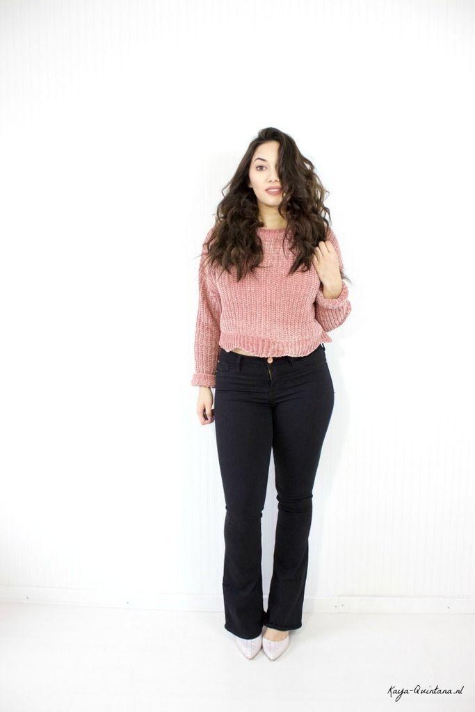 outfit jeans met wijde pijpen