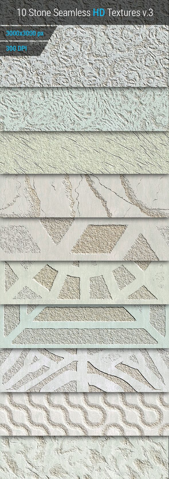 Stone Seamless and Tileable HD Textures Set v.3