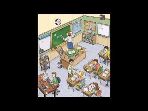 Inside a classroom vocabulary video English lesson - Learning English with videos and pictures