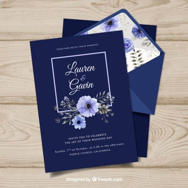Download Vintage Wedding Invitation Template With Floral Style For Free In 2020 Vintage Wedding Invitations Templates Order Wedding Invitations Online Wedding Invitation Kits