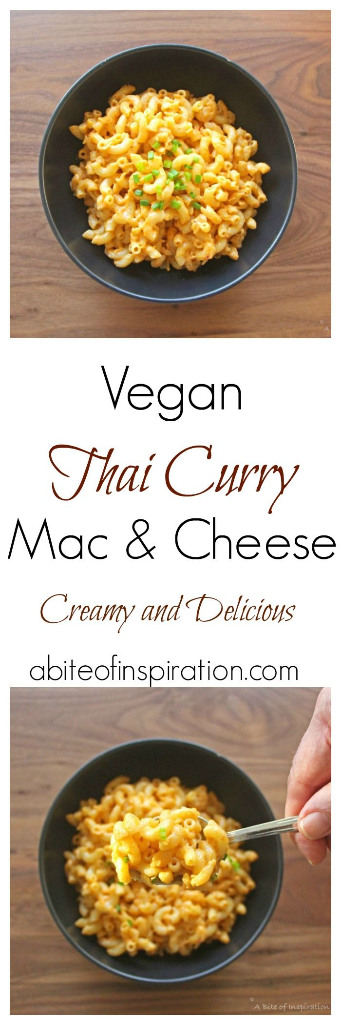 Try my Vegan Thai Curry Mac & Cheese recipe! Creamy, bold, and delicious! Easy to make and 100 percent plant-based!