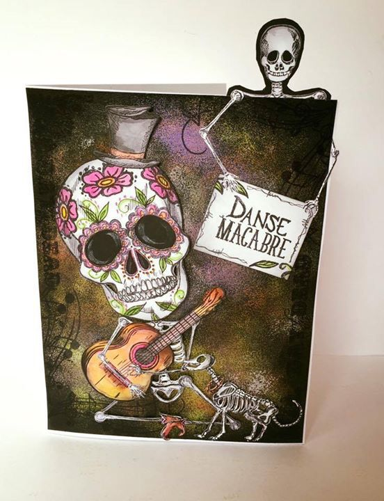 Day of the Dead stamps by Sheena Douglass