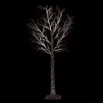 Christmas Floor Standing 7ft Outdoor Indoor Snowy Effect Tree 210cm - Warm White: Amazon.co.uk: Lighting