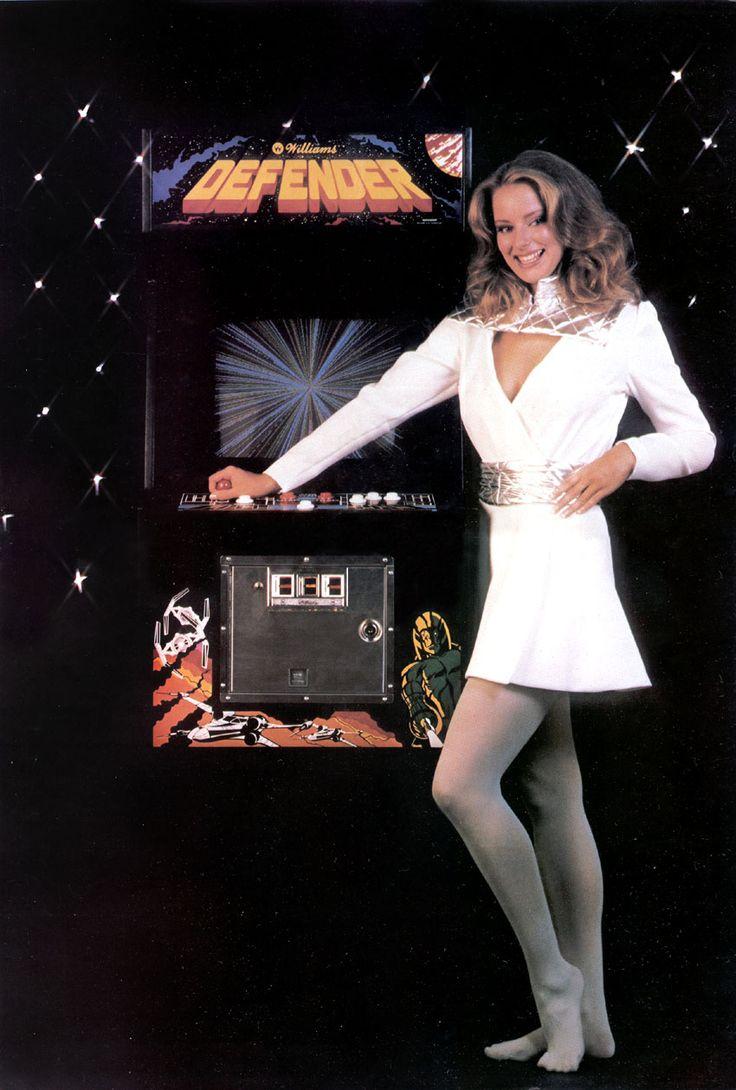 defender arcade machine poster.