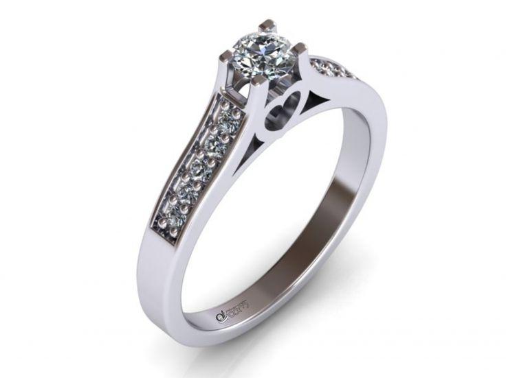 Inel de logodna ATCOM Lux cu diamante ECHINOX aur alb