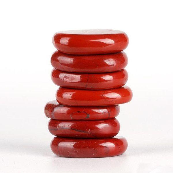 Red Jasper Polished Palm Stone Set