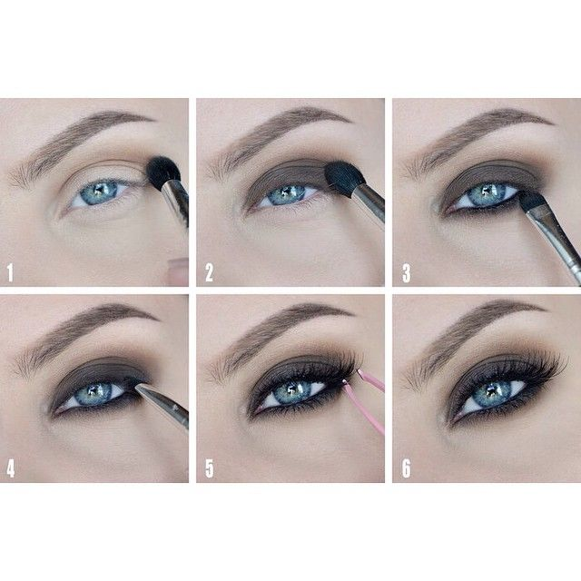 Brown smokey-eye makeup #tutorial #maquiagem #evatornadoblog Коричневый дымчатый макияж