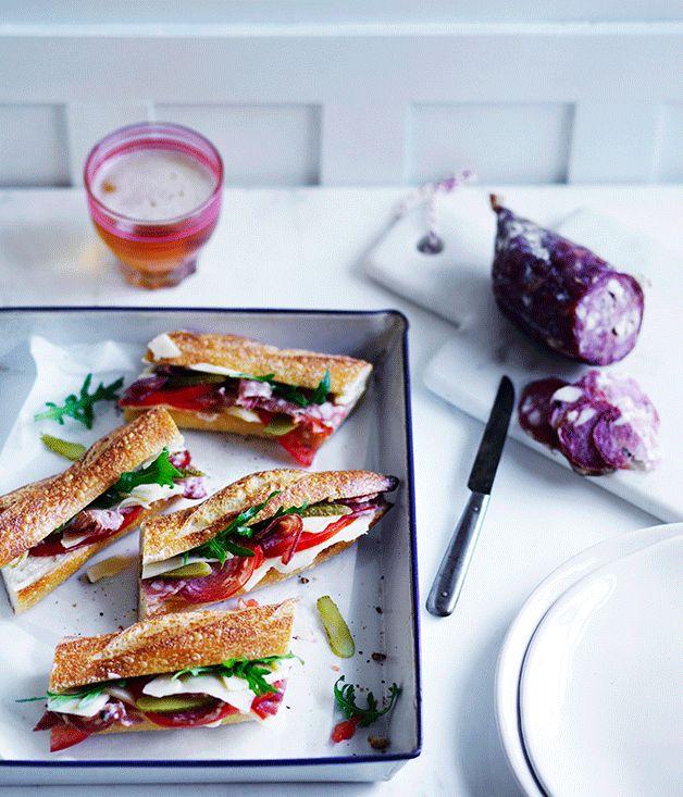 Emmental and saucisson baguette : : Australian Gourmet Traveller