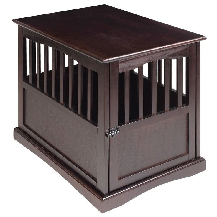 Dog Kennel Wood Bed Crate Pet Cage Wooden Furniture End Table FREE SHIPPING, NEW #CasualHome