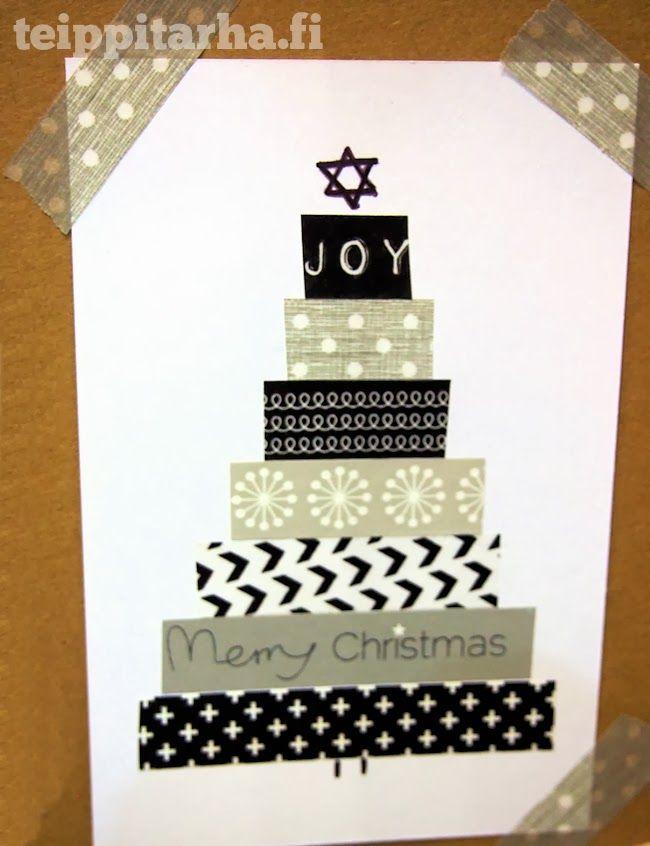 Teippitarhan blogi: Joulukorttimalleja washiteipeistä tehden