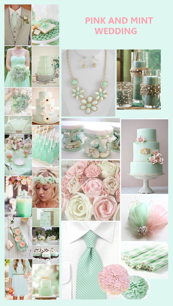 BEACH WEDDING COLORS: PINK & MINT