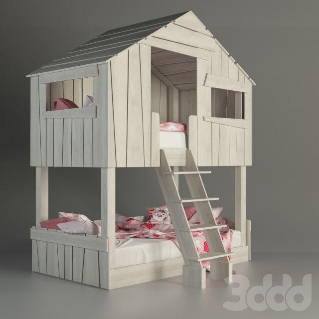 Кровать - домик для детской комнаты