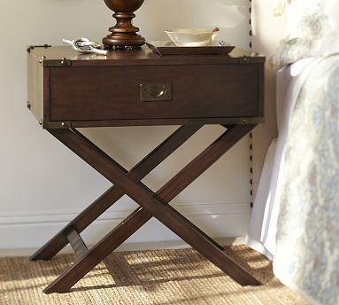Pottery Barn | Devon Campaign Bedside Table - love the look of this!