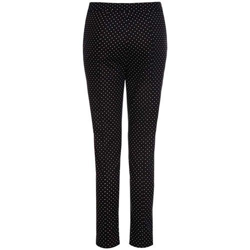 Bethan skinny broek met kleine witte polkadot stippen zwart - Vintage, 50's, Rockabilly