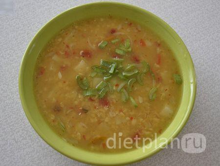 Постный турецкий суп с булгуром и чечевицей   Диетические низкокалорийные рецепты - блюда правильного питания на Dietplan.ru