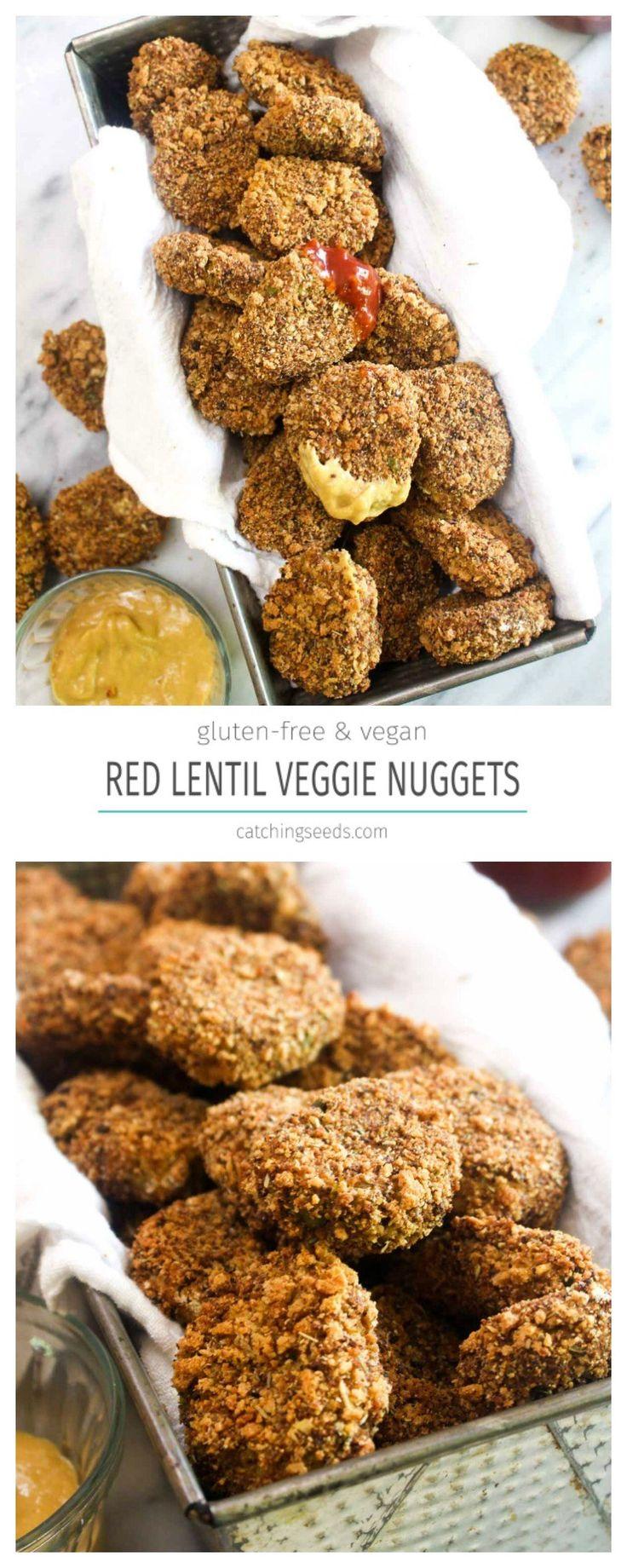 TheseRed Lentil Veggie Nuggets are a healthy recipe that the whole family will love! These tasty bites sneak in protein and several servings of vegetables!