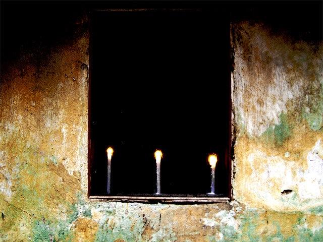 3 candels in Lvov
