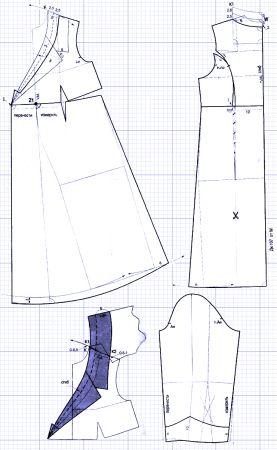 Выкройки для беременных - платье с запахом