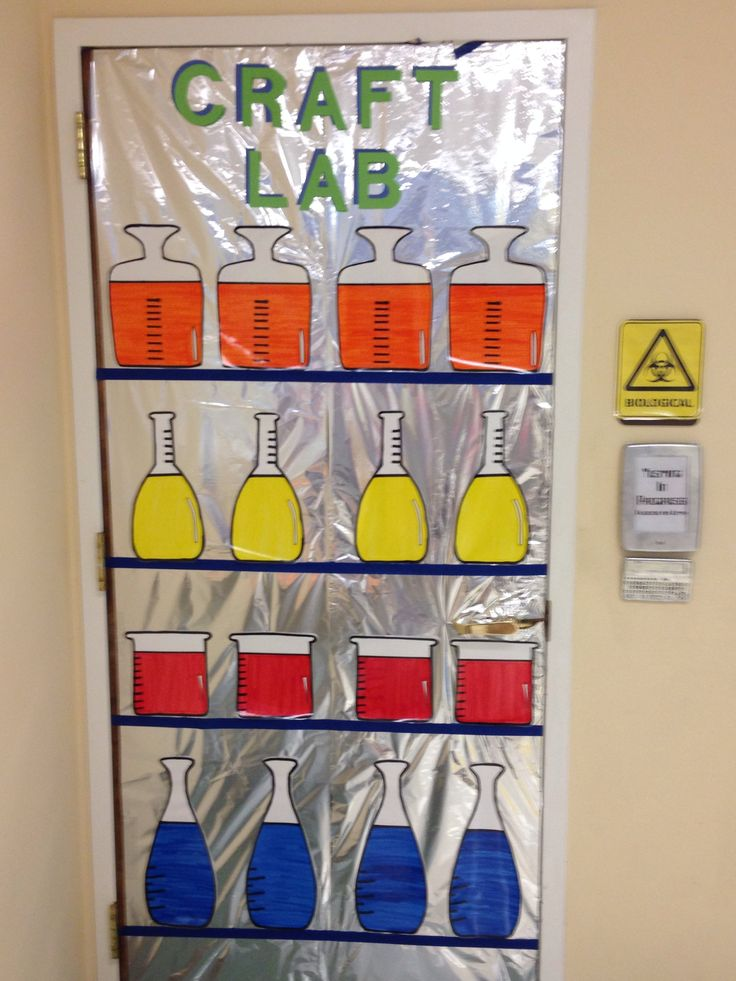 Agency D3 Craft Lab Our Potions Door!
