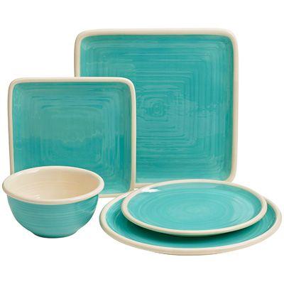turquoise dinnerware   Katie Brown Turquoise Dinnerware   Meijer.com