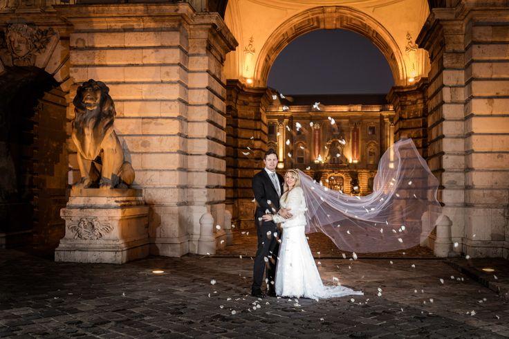 Norsk brudepar fotografert i Budapest — Foto til bryllup