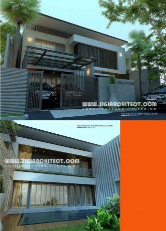 rumah-mewah-2-lantai-kolam-renang-minimalis modern
