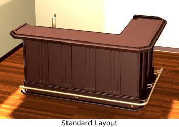 Home Bar Plans - Easy Designs to Build your own Bar - Classic L-Shaped