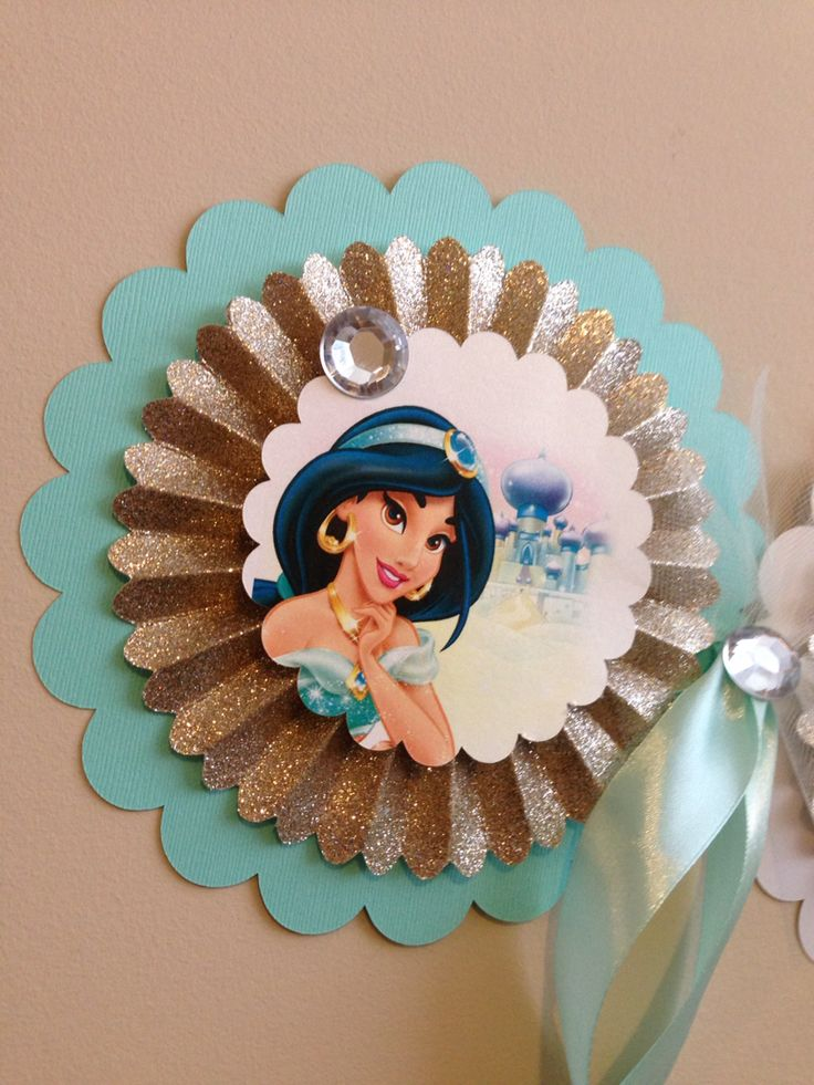I am 5! Disney - Princess Jasmine Birthday Banner. Gold glitter and teal! Order your customized banner today! Www.exceptional-payper.com Email us at exceptionalpayper@gmail.com