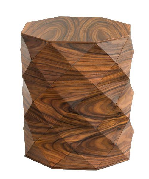 Beistelltisch - Diamond Wood Small Side Table - einzigartige Holzform - exklusive möbel - handmade für 1.535,00