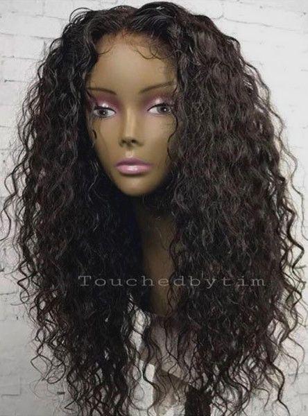 Jackie-Long Deep Curly Human hair Lace Wigs - touchedbytim021