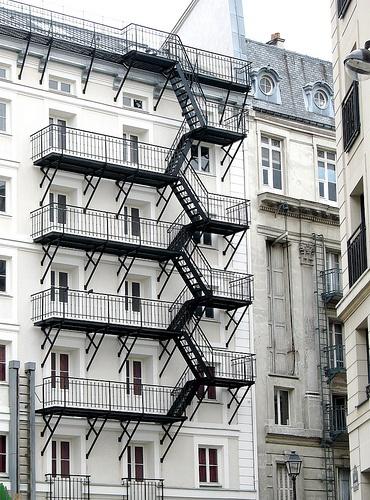 rare in Paris: a fire escape