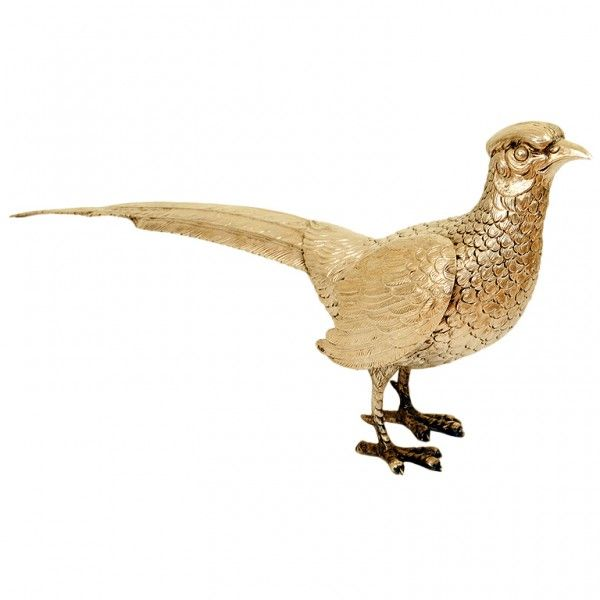 Silver Plate Pheasant - finely cast