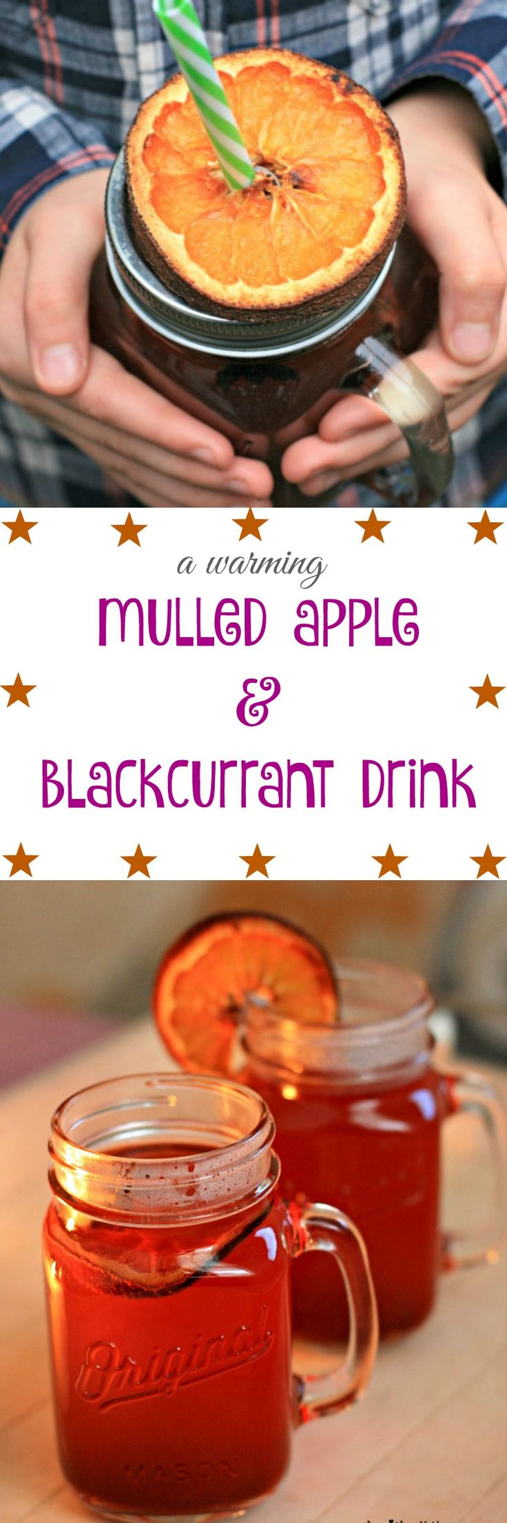Warm up the whole family with this mulled apple & blackcurrant drink - Cherished By Me