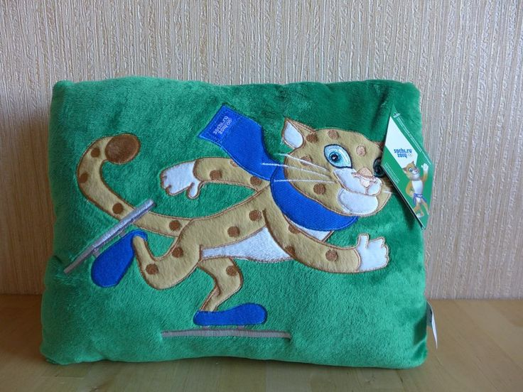 Т55777 Decorative Green Plush Pillow LEOPARD Mascot SOCHI 2014 OLYMPICS RUSSIA  | eBay