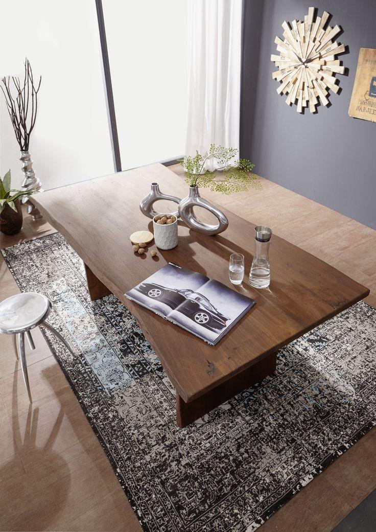Die besten 25 holztisch massiv ideen auf pinterest - Baumtisch esszimmer ...