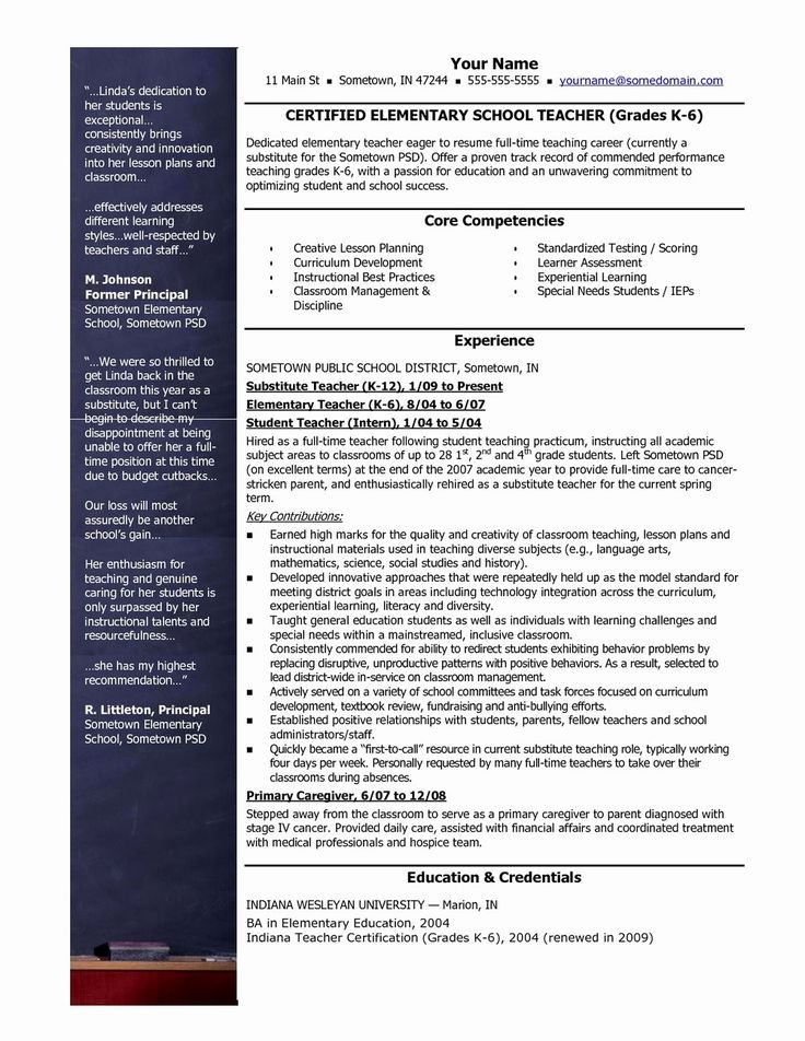 50 Beautiful Teacher Resume Templates Free in 2020 (With