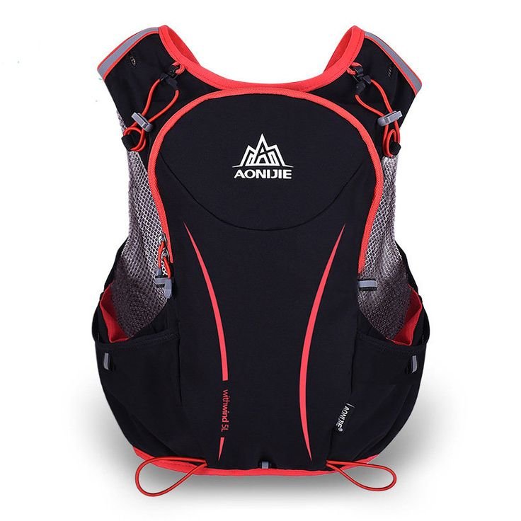 AONIJIE 5L Sports Running Vest Backpack Marathon Hydration Water Bag Pack Holder Sale - Banggood.com  #sports #outdoor #fitness