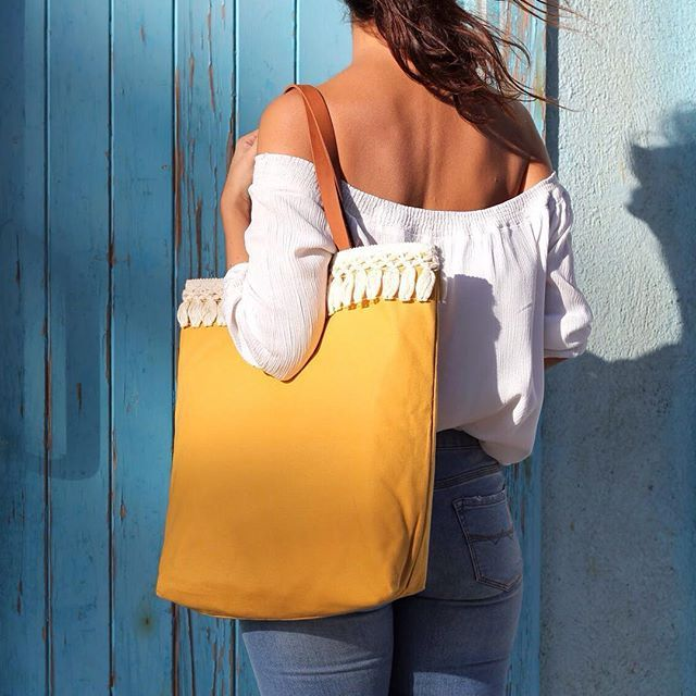 Loving these colours !!! Also new tote bag coming soon✌️#vscocam #tote #bag #fashion #woman #yellow #tassels #shopping #handmade #craftsposure