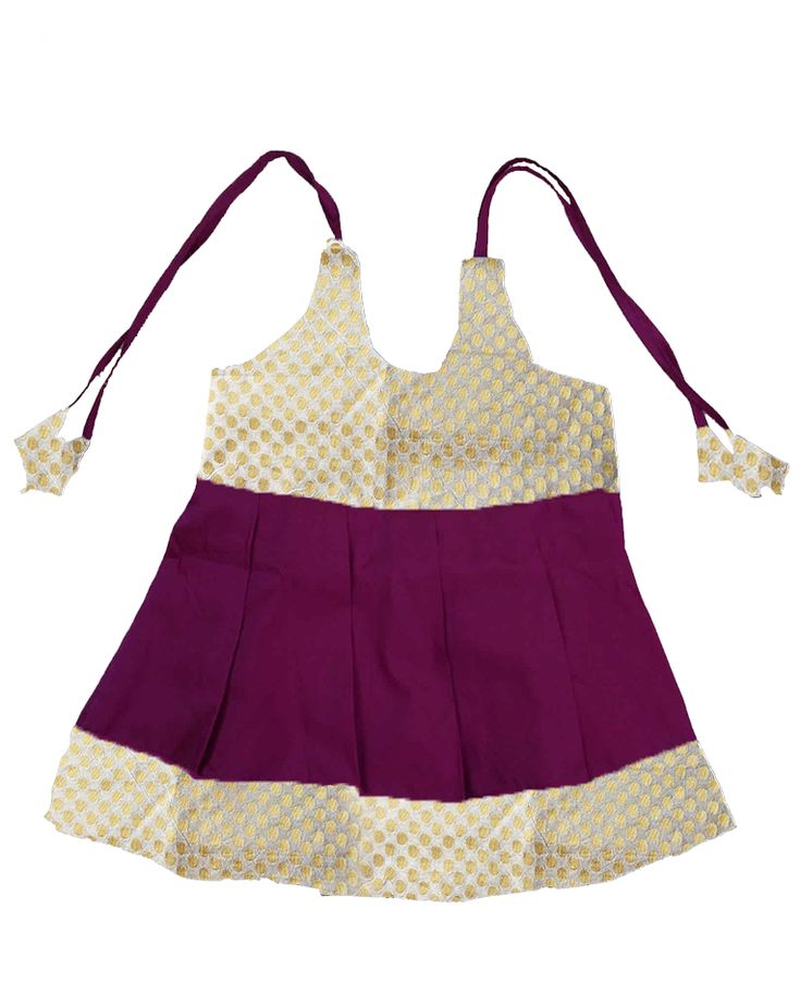 #kidsfrocks #kidspattufrocks Pink with white Pattu Frocks only at www.bujuma.com